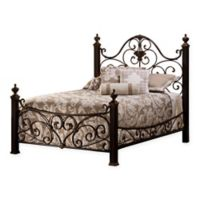 Hillsdale Mikelson King Bed Set with Rails in Antique Gold