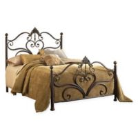 Hillsdale Newton Queen Bed Set with Rails in Brown