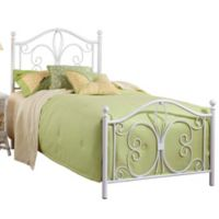 Hillsdale Ruby Twin Bed Set with Rails in White