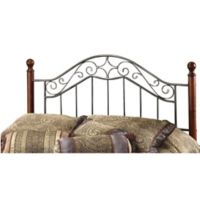 Hillsdale Martino Full/Queen Headboard in Smoke Silver/Cherry