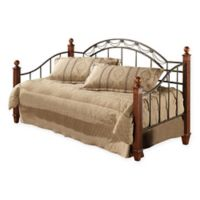 Hillsdale Camelot Wood Post Daybed with Suspension Deck and Roll-Out Trundle in Black/Cherry