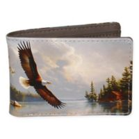 Buxton® Wildlife Summertime Eagle Slimfold Wallet in Grey