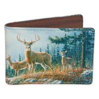 Buxton® Wildlife Autumn Whitetail Deer Slimfold Wallet in Brown