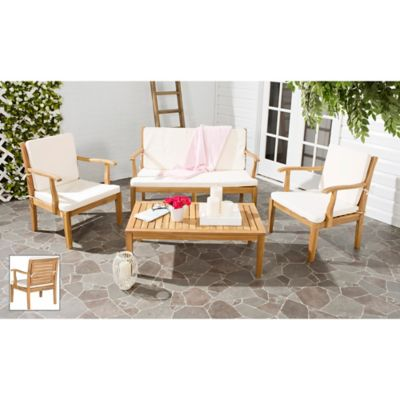 Safavieh Fresno 4 Piece Patio Furniture Set