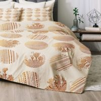 Deny Designs Iveta Abolina Vanilla Dot Queen Comforter Set in Gold