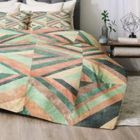 Deny Designs Jacqueline Maldonado Hybrid Holistic Queen Comforter Set in Green