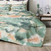 Deny Designs Jacqueline Maldonado Marble Mist Twin/Twin XL Comforter Set in Green