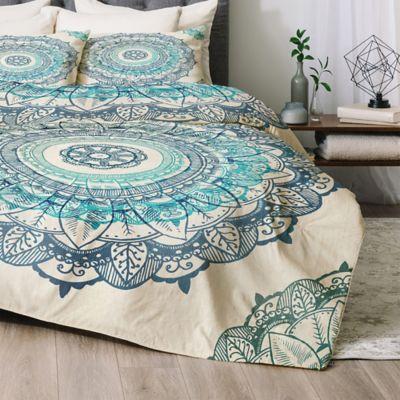 deny designs rbs mandala king comforter set in blue