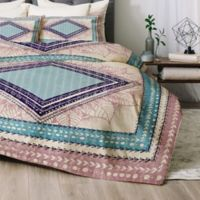 Deny Designs RBS Natural Queen Comforter Set in Pink