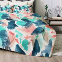 Deny Designs Different Strokes Queen Comforter Set in Blue