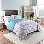 Vue Aura Twin XL Reversible Comforter Set in Blue