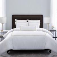 Wamsutta® Hotel Triple Baratta Stitch King Duvet Set in White/Honey