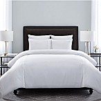 Wamsutta® Hotel Triple Baratta Full/Queen Stitch Duvet Set in White