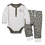 Burt's Bees Baby® Size 6M 2-Piece Leaf Bodysuit and Pant Set in Grey