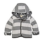 Burt's Bees Baby® Newborn Stripe Hooded Jacket in Grey