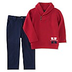 Tommy Hilfiger® Size 3-6M 2-Piece Shawl Top and Twill Pant Set in Red