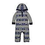 Burt's Bee's Baby® Size 0-3M Camo Stripe Hooded Coverall in Navy