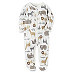 carter's® Newborn Animal Safari Snap-Up Sleep & Play Footie in Oatmeal