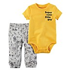 carter's® Size 9M 2-Piece  Super Cute Little Guy  Bodysuit and Pant Set in Yellow