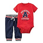 carter's® Size 12M 2-Piece Department Awesome Bodysuit and Pant Set in Red