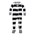 Burt's Bees Baby® Newborn Rugby Stripe Footie in Navy/White
