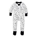 Burt's Bees Baby® Size 0-3M Twinkle Bee Organic Cotton Footed Pajama in Navy/White