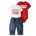 Levi's® Size 0-6M 3-Piece Bodysuit and Jean Gift Box Set
