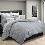 Kenya Elephant Full/Queen Duvet Cover Set in Grey