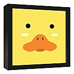 Designs Direct Duck Face Friend 13.7-Inch Square Framed Canvas Wall Art