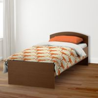 Designs Direct Fox Face Friend Twin Duvet Cover in Orange