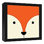 Designs Direct Fox Face Friend 13.7-Inch Square Framed Canvas Wall Art