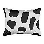 Designs Direct Cow Face Friend Standard Pillow Sham in White