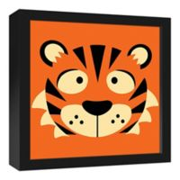 Designs Direct Tiger Face Friend 13.7-Inch Square Framed Canvas Wall Art