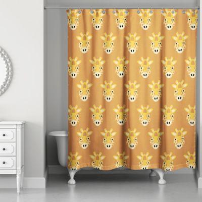 Designs Direct Framed Giraffe Face Friend Shower Curtain