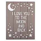 The Peanut Shell®  I Love You to the Moon and Back  Wall Art