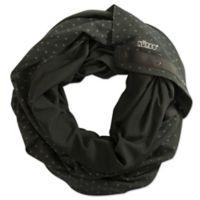 NüRoo® Nursing Scarf in Black Floral Dot