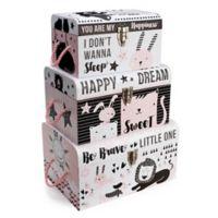 Tri-Coastal Design Nested Baby Boxes in Black/White (Set of 3)