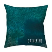 Dotted Print 16-Inch Square Throw Pillow in Blue