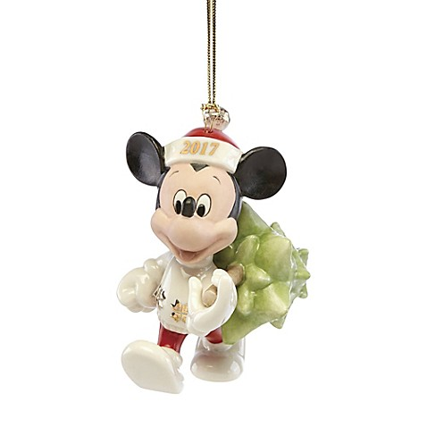 lenox 2017 disney trimming the tree mickey christmas ornament - Disney Christmas Decorations 2017