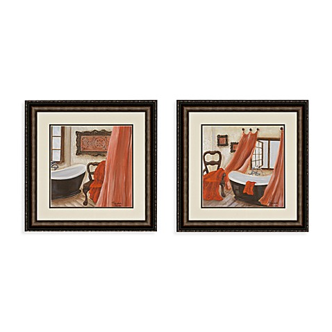 buy antique bath wall art set of 2 from bed bath beyond. Black Bedroom Furniture Sets. Home Design Ideas