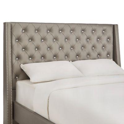 Verona Home Diane Crystal Tufted Full Headboard in Silver Metallic - Buy Silver Metal Headboard From Bed Bath & Beyond