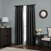 Emery 120-Inch Rod Pocket Insulated 100% Blackout Window Curtain Panel in Black