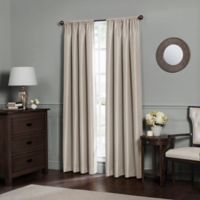 Emery 144-Inch Rod Pocket Insulated 100% Blackout Window Curtain Panel in Oatmeal