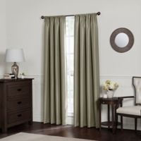 Emery 54 Inch Rod Pocket Insulated Total BlackoutTM Window Curtain Panel In Smoke