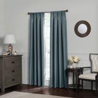 Emery 120-Inch Rod Pocket Insulated 100% Blackout Window Curtain Panel in Blue Haze