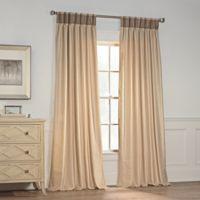 Milena 108-Inch Pinch Pleat Window Curtain Panel in Beige