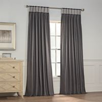 Milena 108-Inch Pinch Pleat Window Curtain Panel in Charcoal