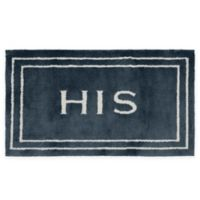 "Mohawk Home ""His"" 24-Inch x 40-Inch Bath Rug in Indigo"