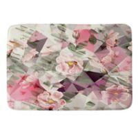 Deny Designs 17-Inch x 24-Inch Geometric Shapes and Flowers Memory Foam Bath Mat