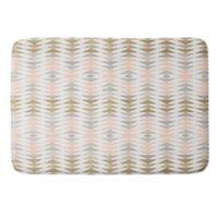Deny Designs 17-Inch x 24-Inch Metallic Triangles Memory Foam Bath Mat